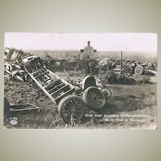 A German Convoy after an Attack. Vintage Photo 1915 W.W.I.