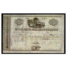 1846: Little Miami Railroad Company. Antique Stock Certificate