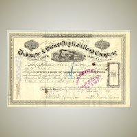 1879: Dubuque & Sioux City Railroad Company. 36 shares