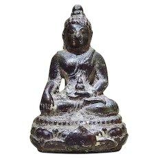 Small Buddha Bronze. Qing Dynasty.