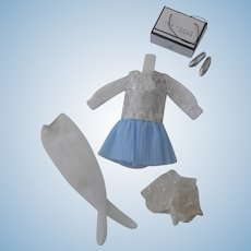 Lovely Shillman Metallic and Crepe Dress and Accessories...Tagged Shillman