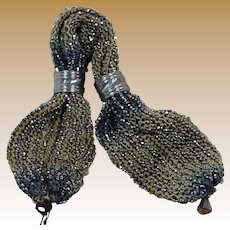 Victorian Miser's Purse for French Fashion or Bebe