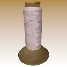 Vintage Pink Cotton Thread on Large Original Spool