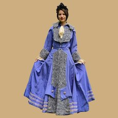 Fabulous Victorian Ladies Coat with Lambswool