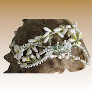 Gorgeous Antique Wax Floral Wedding Headdress