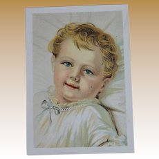 Precious Vintage Advertising Card with Baby