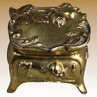 Vintage Miniature Ormolu Jewelry Casket
