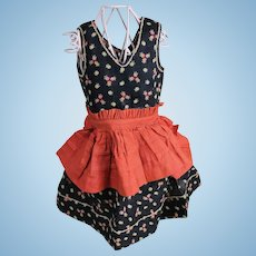 Vintage Cotton Doll Dress with Apron