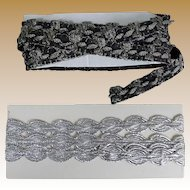 Two Pretty Vintage Metallic Trims for Doll Costuming
