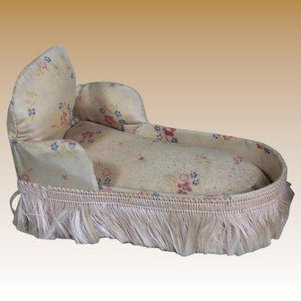 Antique Miniature Chaise Lounge for Mignonette