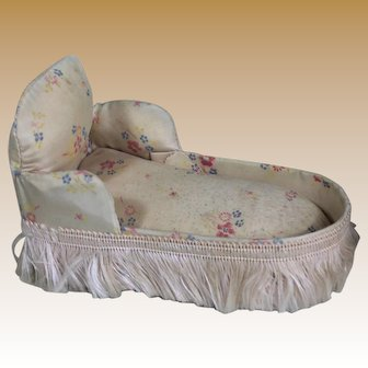 Antique Miniature Chaise Lounge for Mignonette