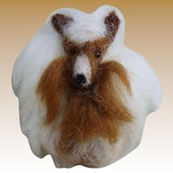 Vintage Wool Collie for Doll