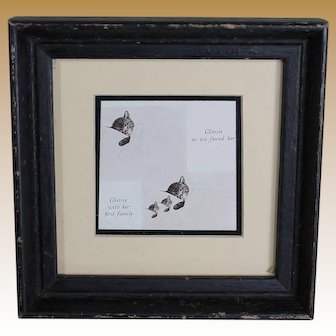 Vintage Framed Print of Chessie Cat