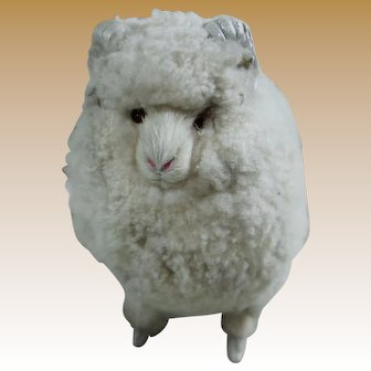 Adorable Vintage Wool Covered Sheep