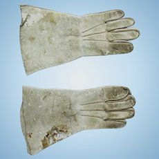 Antique Leather Gloves for Doll