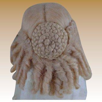 Fantastic Vintage Blond Mohair Doll Wig