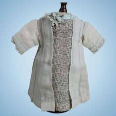 French Antique Wool Dress for Small Bebe