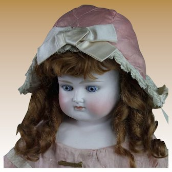 """Gorgeous 20"""" Turned Head German Fashion, All Antique"""