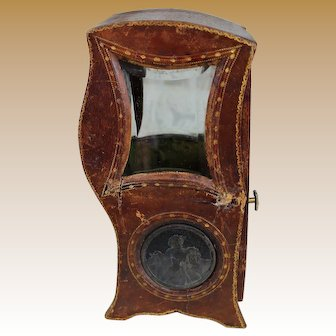 Antique Leather Covered Sedan Chair for Mignonette