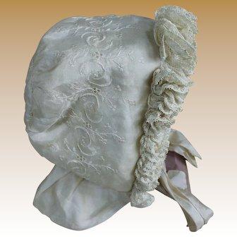Beautiful Antique French Bonnet