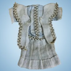 Antique Factory Dress for Small Doll