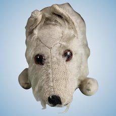 Rare Vintage Steiff Sealyham Dog with Button