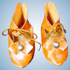 Great Vintage Leather Doll Shoes