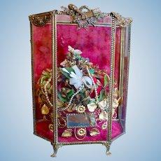 Fabulous Antique French Wedding Vitrine