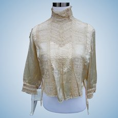 Silk Satin Victorian Blouse  for Doll Costuming