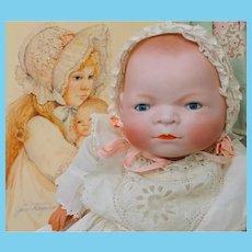 "Darling 14"" Grace Story Putman Bye Lo Baby and Jan Hagara Print"