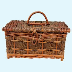 Beautiful Antique Wicker Basket for Mignonette Display