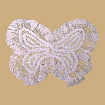 Vintage Pale Pink Lace Butterfly Applique