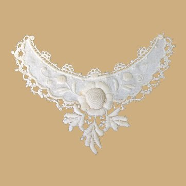 Beautiful Cotton Neckline Insert for Doll Costuming