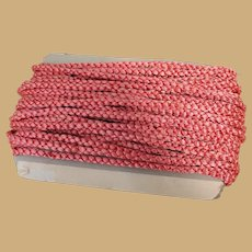 25 Yards Vintage Rose Pink Braided Trim