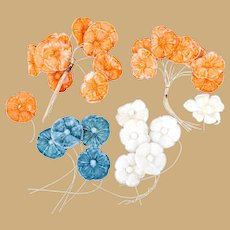 Gorgeous Vintage Velvet Flowers