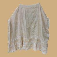 Beautiful Vintage Silk and Lace Skirt for Doll Costuming