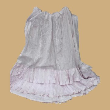 Lovely Victorian Skirt with Ruffles for Doll Costuming