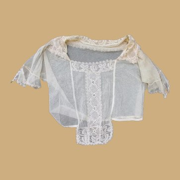 Pretty Lace and Tulle Edwardian Blouse for Doll Costuming