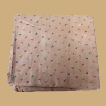 Whimsical Antique Cotton Fabric for Doll Costuming