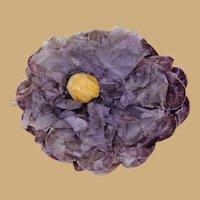 Elegant Vintage Velvet Flower for Doll Hat