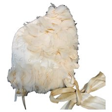 Exquisite Antique French Bonnet for Bebe