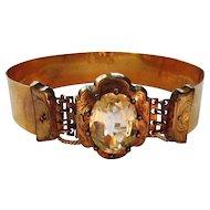 Antique Victorian Gold Filled Citrine Wedding Bracelet