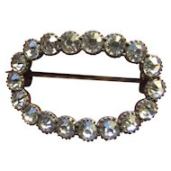 Victorian Oval Brilliant Paste Brooch