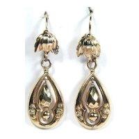 Victorian Yellow Gold Dangle Earrings c1890