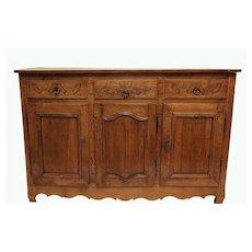 French 18th c.Walnut Buffet Sideboard w/keys