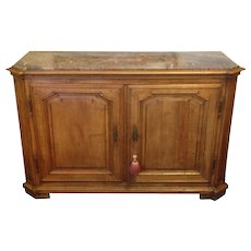 18thC French Walnut Sideboard Server Buffet with Marble top