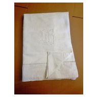 "French Embroidered  Sheet Monogrammed ""LB"""