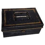 Antique English Tole Cash Box