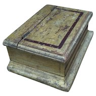 Antique Painted Mustard Yellow Document Box