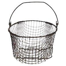 Vintage Wire Ware Gathering Basket